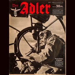 0616	 DER ADLER	 -No.	1	-1942	 vintage German Luftwaffe Magazine Air Force WW2 WWII