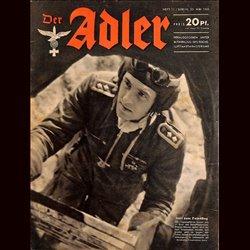 0622 DER ADLER -No.11-1943 vintage German Luftwaffe Magazine Air Force WW2 WWII