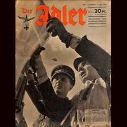 0623	 DER ADLER	 -No.	10	-1943	 vintage German Luftwaffe Magazine Air Force WW2 WWII