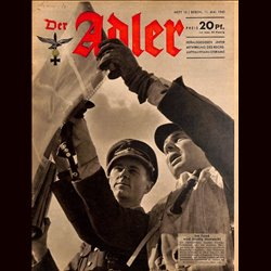 0625	 DER ADLER	 -No.	10	-1943	 vintage German Luftwaffe Magazine Air Force WW2 WWII
