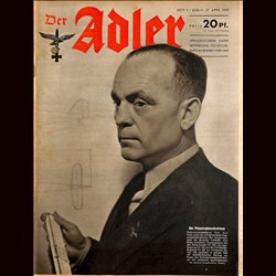 0632	 DER ADLER	 -No.	9	-1943	 vintage German Luftwaffe Magazine Air Force WW2 WWII