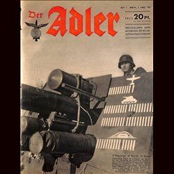 0642	 DER ADLER	 -No.	5	-1943	 vintage German Luftwaffe Magazine Air Force WW2 WWII