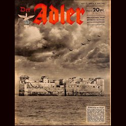 0652	 DER ADLER	 -No.	12	-1943	 vintage German Luftwaffe Magazine Air Force WW2 WWII