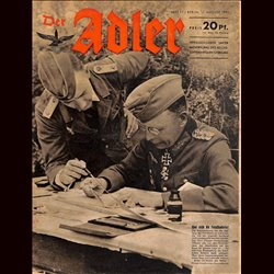 0658	 DER ADLER	 -No.	17	-1943	 vintage German Luftwaffe Magazine Air Force WW2 WWII