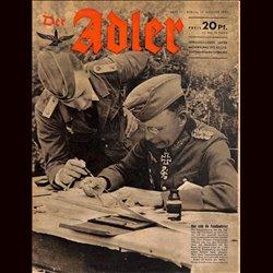 0658 DER ADLER -No.17-1943 vintage German Luftwaffe Magazine Air Force WW2 WWII