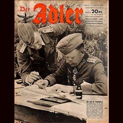 0659 DER ADLER -No.17-1943 vintage German Luftwaffe Magazine Air Force WW2 WWII