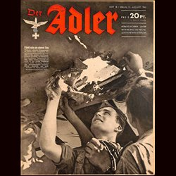 0660	 DER ADLER	 -No.	18	-1943	 vintage German Luftwaffe Magazine Air Force WW2 WWII