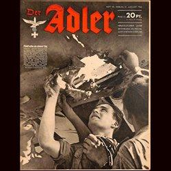 0660 DER ADLER -No.18-1943 vintage German Luftwaffe Magazine Air Force WW2 WWII