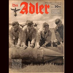 0663 DER ADLER -No.19-1943 vintage German Luftwaffe Magazine Air Force WW2 WWII