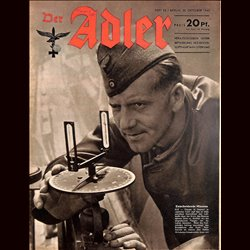 0668	 DER ADLER	 -No.	22	-1943	 vintage German Luftwaffe Magazine Air Force WW2 WWII