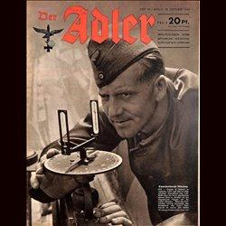 0668 DER ADLER -No.22-1943 vintage German Luftwaffe Magazine Air Force WW2 WWII