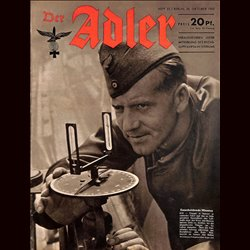 0669	 DER ADLER	 -No.	22	-1943	 vintage German Luftwaffe Magazine Air Force WW2 WWII