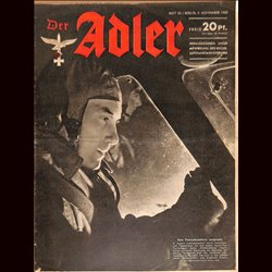 0672	 DER ADLER	 -No.	23	-1943	 vintage German Luftwaffe Magazine Air Force WW2 WWII