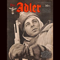 0677	 DER ADLER	 -No.	25	-1943	 vintage German Luftwaffe Magazine Air Force WW2 WWII