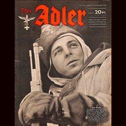 0677 DER ADLER -No.25-1943 vintage German Luftwaffe Magazine Air Force WW2 WWII
