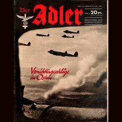 0691 DER ADLER -No.15-1941 vintage German Luftwaffe Magazine Air Force WW2 WWII