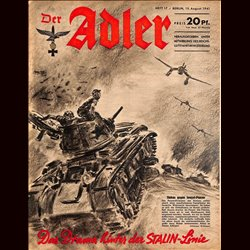 0706	 DER ADLER	 -No.	17	-1941	 vintage German Luftwaffe Magazine Air Force WW2 WWII