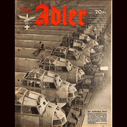 0779	 DER ADLER	 -No.	23	-1941	 vintage German Luftwaffe Magazine Air Force WW2 WWII