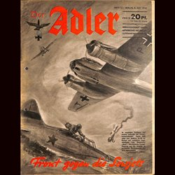 0787	 DER ADLER	 -No.	14	-1941	 vintage German Luftwaffe Magazine Air Force WW2 WWII