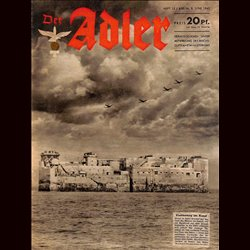 0650	 DER ADLER	 -No.	12	-1943	 vintage German Luftwaffe Magazine Air Force WW2 WWII