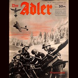 0475	 DER ADLER	 -No.	26	-1940	 vintage German Luftwaffe Magazine Air Force WW2 WWII