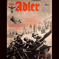 0475 DER ADLER -No.26-1940 vintage German Luftwaffe Magazine Air Force WW2 WWII