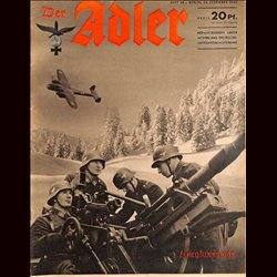0476	 DER ADLER	 -No.	26	-1940	 vintage German Luftwaffe Magazine Air Force WW2 WWII