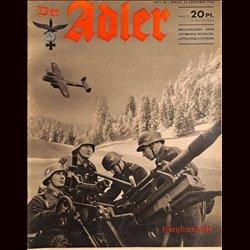 0476 DER ADLER -No.26-1940 vintage German Luftwaffe Magazine Air Force WW2 WWII