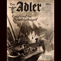 0478	 DER ADLER	 -No.	18	-1940	 vintage German Luftwaffe Magazine Air Force WW2 WWII