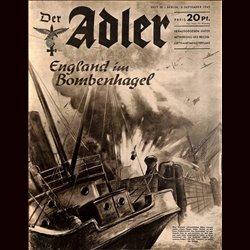 0478 DER ADLER -No.18-1940 vintage German Luftwaffe Magazine Air Force WW2 WWII