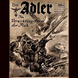 0479	 DER ADLER	 -No.	15	-1940	 vintage German Luftwaffe Magazine Air Force WW2 WWII