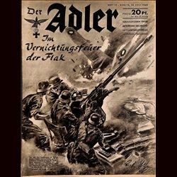 0479 DER ADLER -No.15-1940 vintage German Luftwaffe Magazine Air Force WW2 WWII