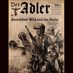 0492	 DER ADLER	 -No.	10	-1940	 vintage German Luftwaffe Magazine Air Force WW2 WWII