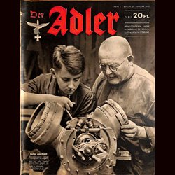 0615	 DER ADLER	 -No.	2	-1942	 vintage German Luftwaffe Magazine Air Force WW2 WWII