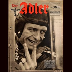 0762	 DER ADLER	 -No.	25	-1942	 vintage German Luftwaffe Magazine Air Force WW2 WWII