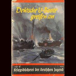6342 KRIEGSBÜCHEREI DER DEUTSCHEN JUGEND No.50-Deutsche U-Boote greifen an WWII narrations/ some illustrations