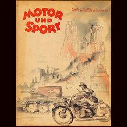 13953 Incomplete MOTOR UND SPORT No. 41-1940