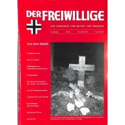 2007184 No. 11-1996 DER FREIWILLIGE - Waffen-SS veteran magazine -
