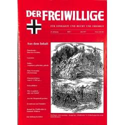 2007192 No. 7-1997 DER FREIWILLIGE - Waffen-SS veteran magazine -
