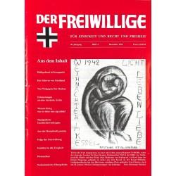 2007202 No. 12-1998 DER FREIWILLIGE - Waffen-SS veteran magazine -