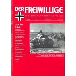m2007/116 No. 9-1987 DER FREIWILLIGE - Waffen-SS veteran magazine -