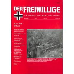 m2007/125 No. 6-1988 DER FREIWILLIGE - Waffen-SS veteran magazine -