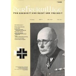 m2007/25 No. 7-1974 DER FREIWILLIGE - Waffen-SS veteran magazine -