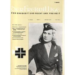 m2007/33 No. 1-1975 DER FREIWILLIGE - Waffen-SS veteran magazine -