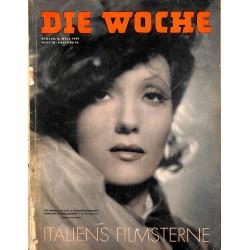 2608 DIE WOCHE-No.10-1939 WWII magazine - movies, war grave in France WWI