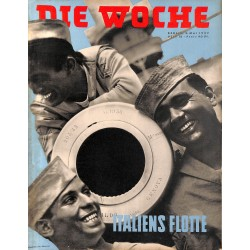 2615	 DIE WOCHE	-No.	18-1939		 WWII magazine - 	Italy Navy Basketball Luftwaffe	, 42 pages,	,german illustrated magazine