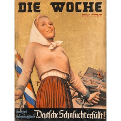 2622	 DIE WOCHE	-No.	41-1938		 WWII magazine - 	Special issue Sudetenland Mohravia Bohemia soldiers	, 60 pages,
