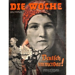 2629	 DIE WOCHE	-No.	40-1938		 WWII magazine - 	Sudeten Freikorps, Boehemia Mohravia	, 42 pages,	,german illustrated magazine