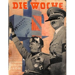 2632	 DIE WOCHE	-No.	17-1938		 WWII magazine - 	Mussolini Berlin-Rom many photos	, 42 pages,	,german illustrated magazine