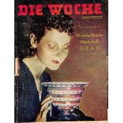 2642 DIE WOCHE-No.46-1938 WWII magazine - Glass, parades, 42 pages,,german illustrated magazine, many photos